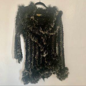 Sentini paris Faux Rabbit Fox fur sweater